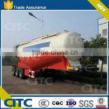 Tri- axle V-type used silo cement trailer, bulk cement tanker truck ,bulk powder tanker trailers