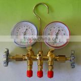 R-12 Brass Manifold Gauge With Sight Glass