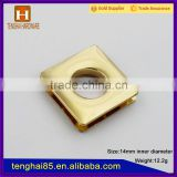 Shiny 14mm square eyelets rings for curtains/handbags