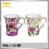 Drinkware gold rim wholesale mother's day mug, 500ml mug, eco ware white porcelain coffee mug