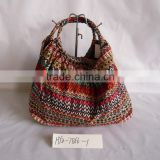 New design ethnic casual stampa paper straw bag