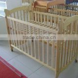 Wood baby cribs with wheels for baby product
