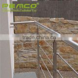 Prime quality custom made stainless steel staircase balustrade balcony customized fancy designs glass railing