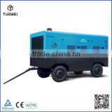 High volume diesel driven towable trailer 10 bar moveable screw type air compressor