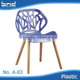 HOT SELLING ABS woode plastic modern clear plastic dinning chairs