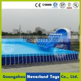 High Quality NEVERLAND TOYS Commercial Amusement Water Park Giant Funny Blue Inflatable Water Park With Swimming Pool For Sale