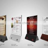 new products for 2016 table menu power bank advertising machine for beer and wine company