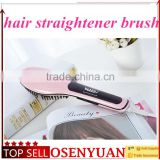 cheapest beauty star NASV hair brush original hair straightening comb digital electric hair straightener brush with lcd display