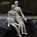Factory wholesale wooden manikin,adjustable wooden manikin doll,8' male and female wooden manikin