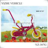 High Quality Mini BMX 10 inch Girls Bike With Parent Handle