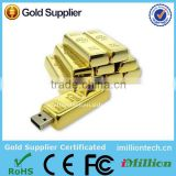 Metal Usb Flash Drive/Pen Drive Gold Bar accept paypal