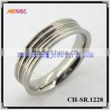 Traditional simple polished stainless steel spinner rings for wedding