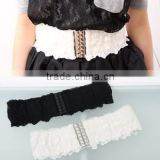 version of the new summer dress girdle, female crocodile decorative elastic belt,woman belt