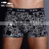 MC CLAYN male panties 100% trunk plus size cotton boxer shorts loose and comfortable mid waist breathable underwear men