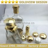Die casting gold plated zamac metel liquor caps for wine packing,screw top bottle cap,Metal Liquor Caps,Zamac Liquor Caps