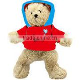 embroidery imprinted promotional logo red coat standing bear dress scarf beanbag bandana t-shirt bib tie ribbon animal toys