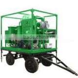 TY-M Outdoor Mobile Type Turbine Oil Treatment Purifier Plant With Tralier,Vacuum Drying and Demulsification