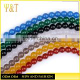 China factory different size onyx round beads with hole (KB-001)