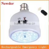 LED rechargeable emergency lamp with remote control