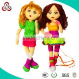 OEM Fashion Plush 18 inch american girl doll, plush doll wholesale
