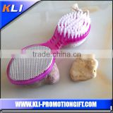 Fashion design metal foot file with brush professional foot callus grater