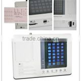 3-channel 12 lead color Screen ECG EKG machine Electrocardiograph EKG-903A3 with ECG Cable