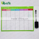 Daily Magnetic Calendar Printed White Board Planner for Refrigerator 17 inch x 11 inch