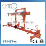 SUNTECH Fabric Industrial Hydraulic Twin Beam Lift Trolley with Harness Mounting Device Textile Finishing Machine
