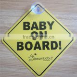 plastic baby on board car window sign sticker