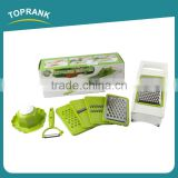Toprank As Seen On TV 5 In 1 Stainless Steel Mini Vegetable Slicer Vegetable Fruit Food Chopper Julienne Vegetable Slicer