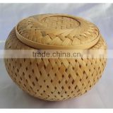 2015 New design natural bamboo weave funeral casket for human or pet