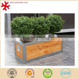Stainless steel trough planter outdoor garden flower pot frame