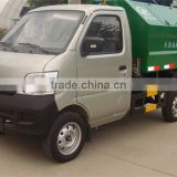 hot sale Euro4 4*2 Chang An gasoline 3m3 mini garbage truck