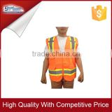 Multi-pockets orange Reflective Safety vest