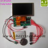 4.3 inch TFT LCD advertising screen/ video player module for DIY lcd video brochure card,video greeting card