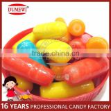 Multi Color Fruit Chalk Shape Bubble Gum Bottle Pack