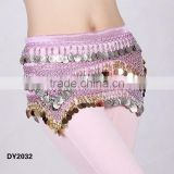 Affordable crochet paillettes belly dancing hip scarf belly dance hip belt with sequins