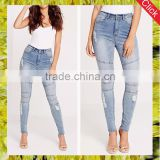 Western high waist biker denim jeans usa designer women skinny stone washed damaged jeans brand clothes