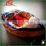 high quality stuffed plush pet toy dog bed boat shaped