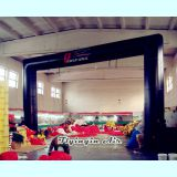 Cheap Black Advertising Inflatable Arch with Blower for Sale