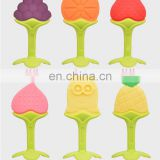 China supplier colorful design customized logo teether silicone