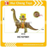 B/O Educational new soft rubber collection plastic toy simulation dinosaur for 2017