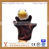 Realistic fancy plush eagle hand puppet toy