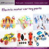 Professional custom plastic electric motor car toy parts with high quality for wholesale
