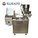 automatic vial bottle liquid filling and screw capping machine