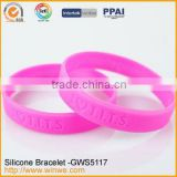 Embossed silicone rubber wedding rings