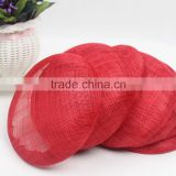 Wholesale Alibaba Red Fascinator Round Sinamay Hat Base