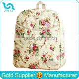 Pretty Floral Waterproof Oilcloth Baby Diaper Backpack Nappy Bag Backpack
