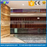 High Quality Polished Brown Tiger Onyx Marble Indoor Decorative Stone