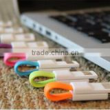 Smallest 8cm Key Ring Cable with most strong magnet USB Data Sync Charger for SAMSUNG for IPHONE